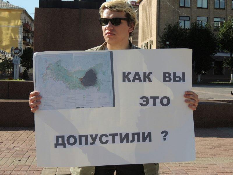 В Брянске задержали участника пикета за честные выборы