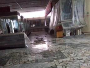 В Брянском краеведческом музее при потопе пострадал подвесной потолок