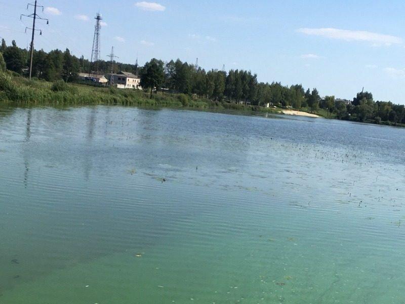 В Климово появился водоем с зеленой водой