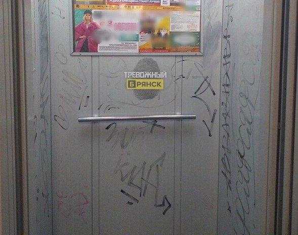 В Мексике брянские вандалы изуродовали лифт