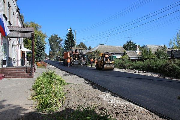 В Почепе шесть улиц отремонтировали за 23 млн рублей