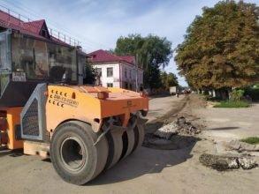 В Почепе ремонтируют улицы Хаботько и Октябрьскую