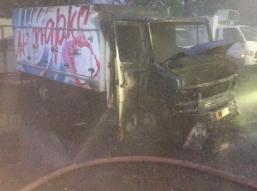 В Брянске на улице Литейной сгорел грузовик