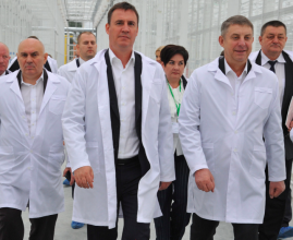 Глава Минсельхоза РФ и губернатор Брянщины посадили томаты