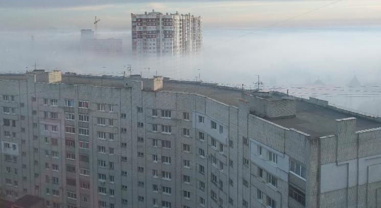 Брянск заволокло дымом из-за лесной подстилки с торфом