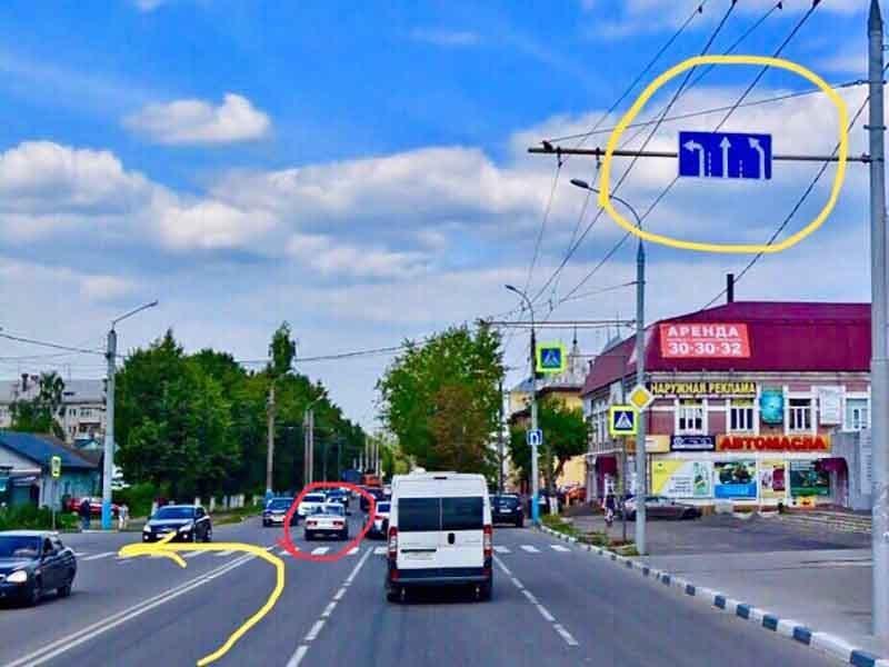 В Брянске сфотографировали транспортный беспредел на улице Ульянова