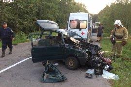В Брасовском районе от удара с мотоциклом смяло автомобиль «Ока»