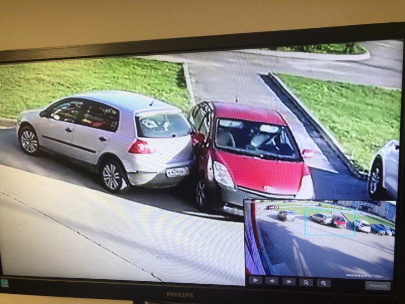 В Брянске водитель разбитой машины вызвал обидчика на разговор