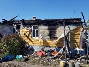 В Карачеве собирают помощь семье погорельцев
