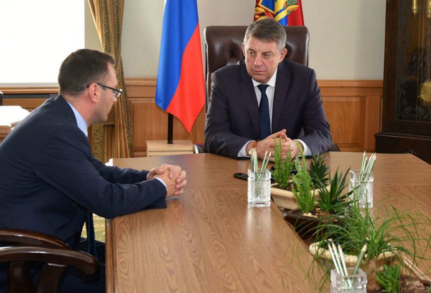 Брянский губернатор провел встречу с заместителем руководителя ФАС