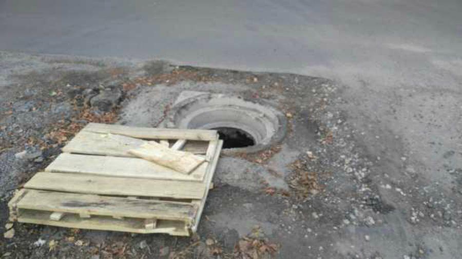 Жители Брянска заметили на улице Бежицкой опасную ловушку