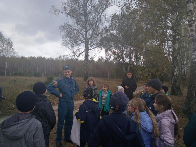 Брянские спасатели устроили турпоход для учеников сельской школы