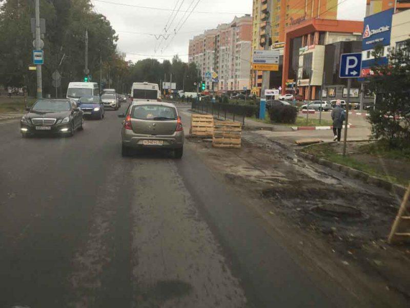В Брянске сообщили о пробках на улице Бежицкой возле БГУ