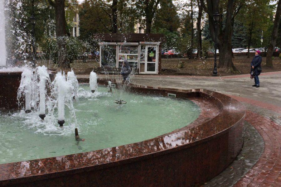 В Брянске поломался новый фонтан в Круглом сквере