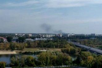 Жителей Брянска напугал пожар на Новостройке