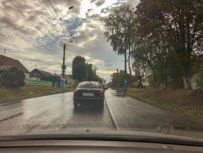 В Брянске на улице Бежицкой образовалась большая пробка