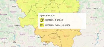 На Брянщине объявили оперативное предупреждение на 16 сентября