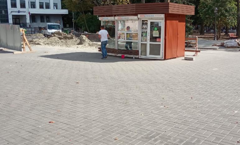 В Брянске киоск «Союзпечати» постарается не изуродовать Круглый сквер