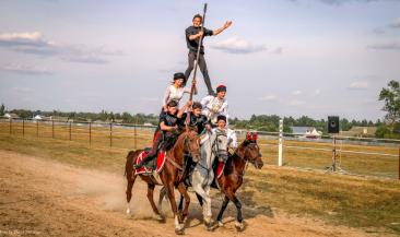 В Локте на Кубке губернатора показали пирамиду на лошадях