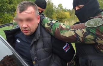 Появилось видео задержания подельника брянского экс-депутата