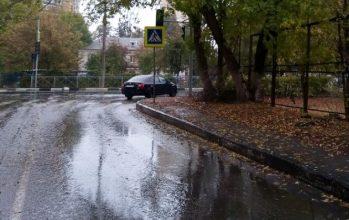 В Брянске новый светофор спрятали от водителей