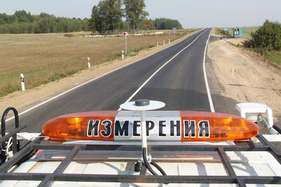 На Брянщине отремонтированную дорогу проверила передвижная лаборатория «Трасса»