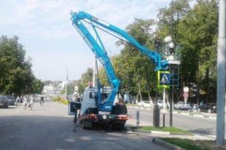 В Дятьково продолжается благоустройство улицы Ленина