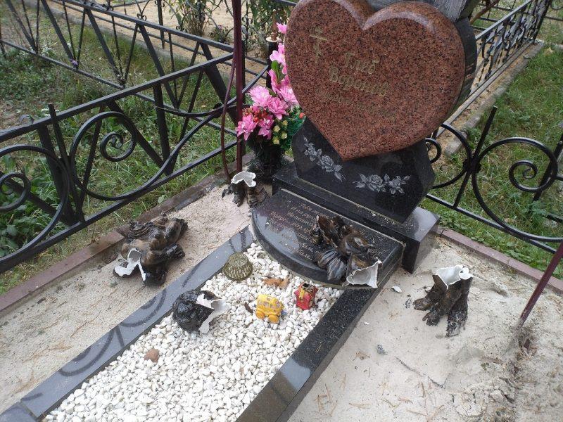 В Брянске вандалы устроили погром на могиле ребенка