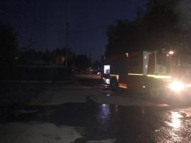 В Брянске на улице Фрунзе произошел пожар