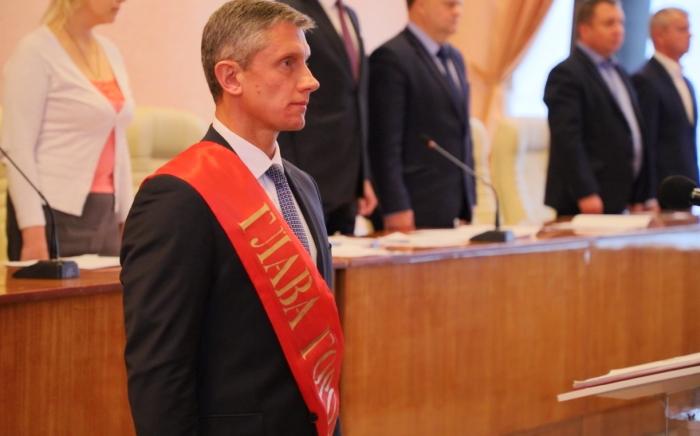 В городе Клинцы состоялась инаугурация главы города Олега Шкуратова