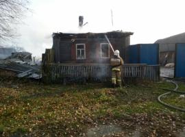 В Климовском районе сгорел жилой дом