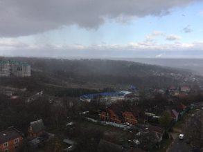 В Брянске Курган Бессмертия накрыло снегом