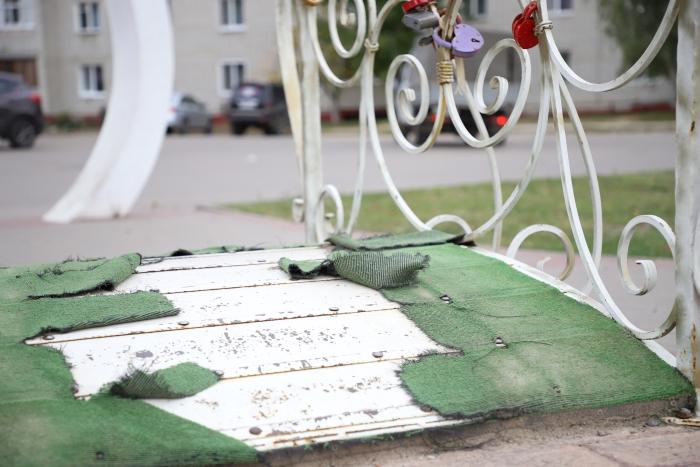 Жители Клинцов просят отремонтировать разваливающийся сквер «Афганцев»