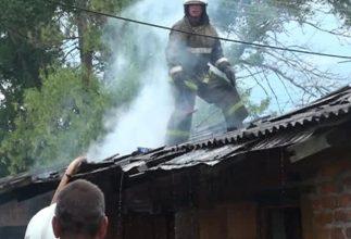 При пожаре в Белой Березке пострадал человек