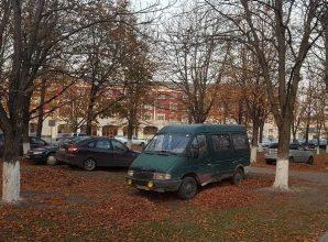 В Брянске сфотографировали автохамов в Пролетарском сквере