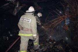 В Брянском районе сгорела баня