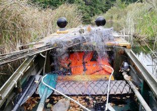 Брянские активисты в ходе рейда на водоеме нашли браконьерские сети