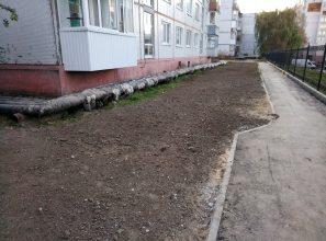 В Брянске впервые строители привели в порядок газон