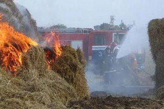 Под Брянском сгорело заготовленное на зиму сено