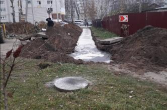 В Брянске строители оставили военный городок без воды