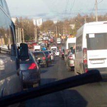 В Брянске Бежицкий район продолжает стоять в пробках