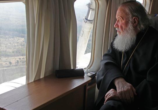 Глава РПЦ взглянул на Брянщину из иллюминатора вертолёта
