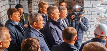 Брянский губернатор Богомаз отправился на стройки детсадов