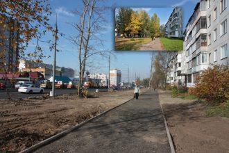 В Брянске на Авиационной почти уничтожили растительность