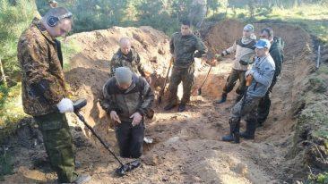 В Жуковке нашли останки расстрелянных в годы войны партизан