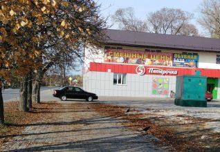 В Трубчевске автохам перегородил тротуар возде магазина «Пятерочка»