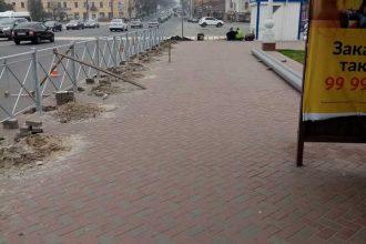 В Брянске на Набережной установят забор со стороны Семеновского сквера