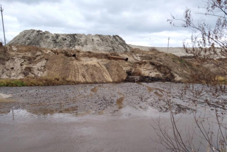 В Брянске реку Снежка загрязняет странная жижа