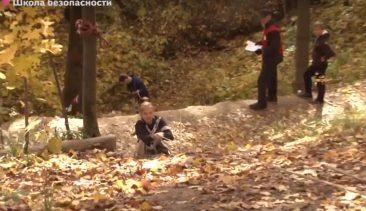 В брянской роще Соловьи прошли соревнования юных спасателей