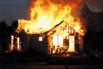 Под Брянском сгорел частный дом